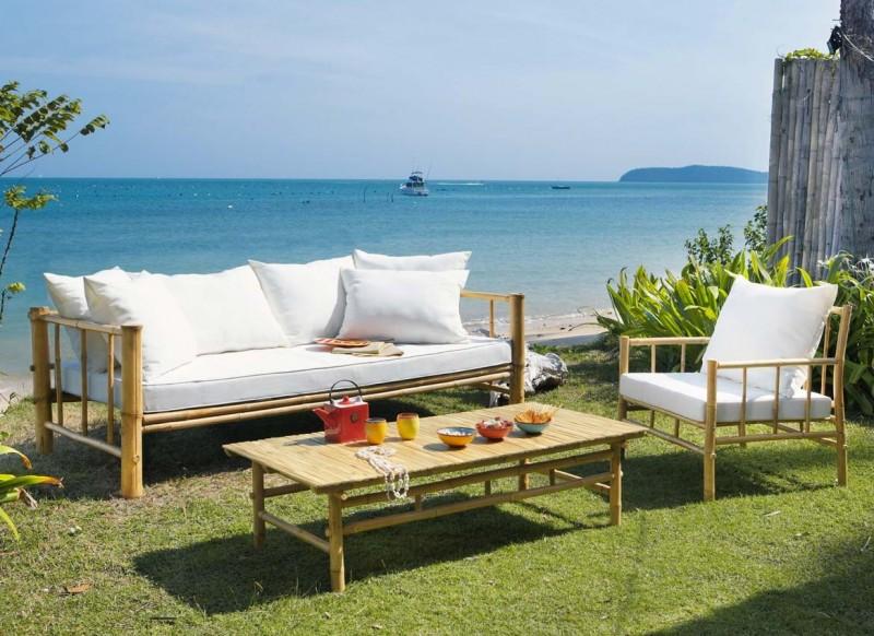 Acheter salon de jardin en bambou - Mailleraye.fr jardin