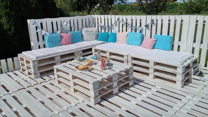 Fabrication salon de jardin en bois de palette - Mailleraye ...