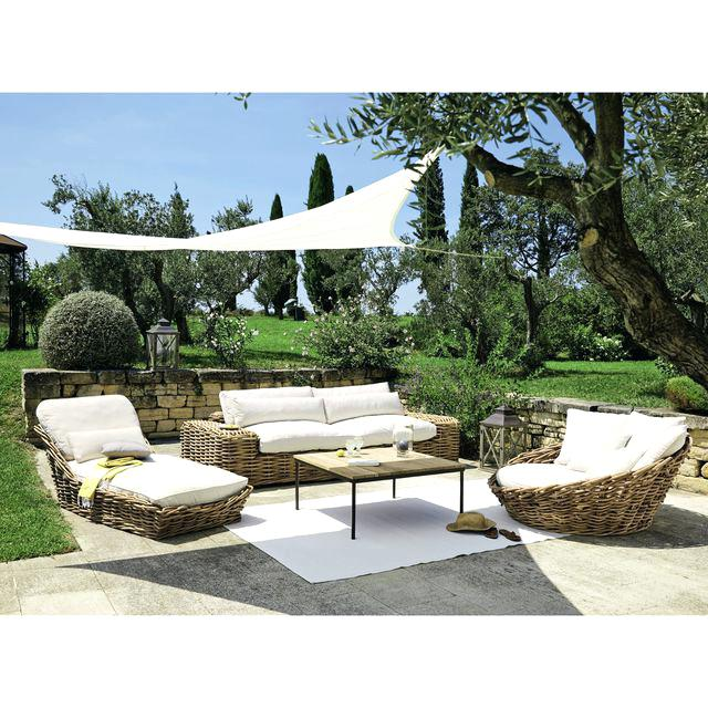 Salon de jardin en osier naturel - Mailleraye.fr jardin