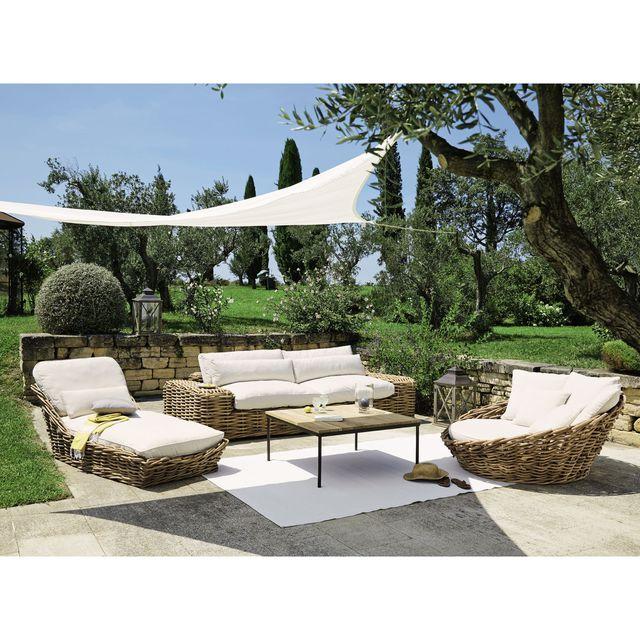 Salon de jardin exterieur en rotin - Mailleraye.fr jardin
