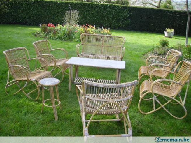 Salon de jardin rotin vintage - Mailleraye.fr jardin