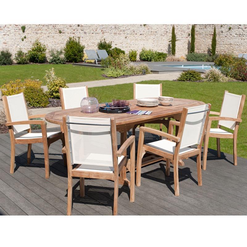 Mobilier de jardin table ovale - Mailleraye.fr jardin