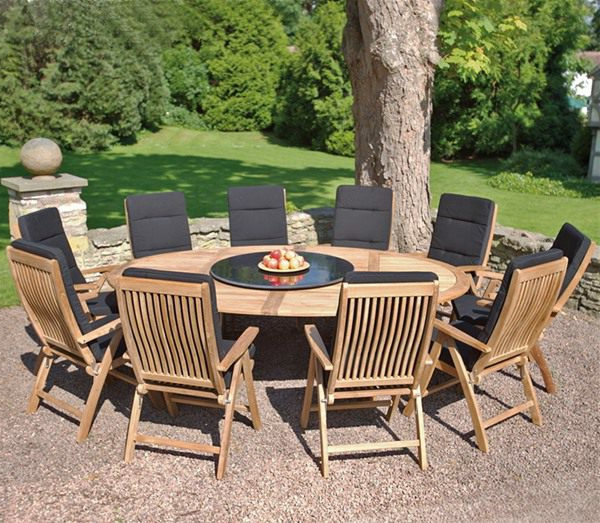 Stunning Salon De Jardin Grande Table Ronde Pictures - House Design ...