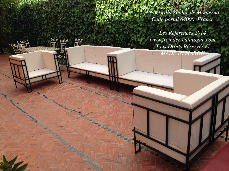 Salon de jardin en fer moderne - Mailleraye.fr jardin