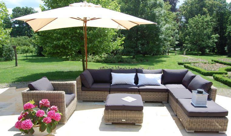 Salon de jardin assise haute