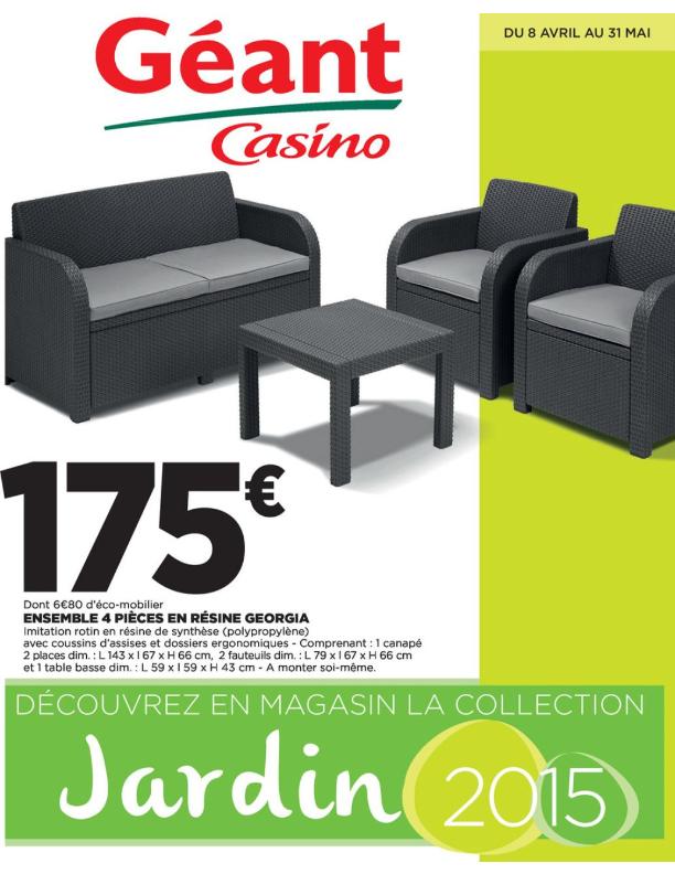 salon de jardin geant casino fenouillet jardin. Black Bedroom Furniture Sets. Home Design Ideas