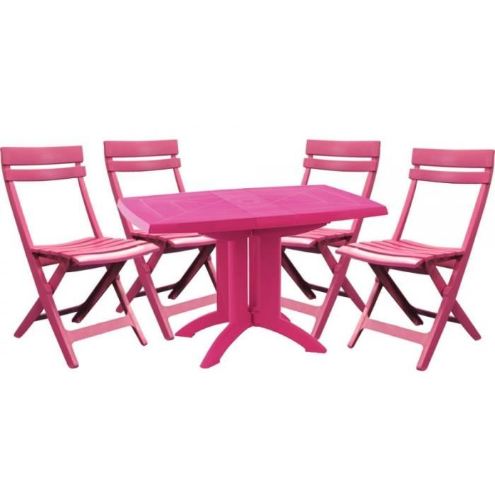 Salon de jardin table et chaises grosfillex