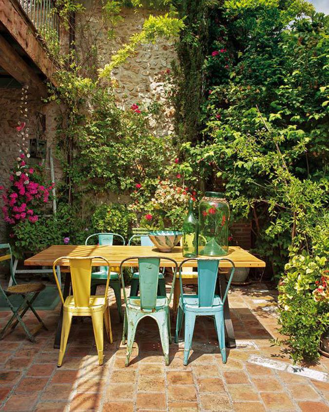 Salon de jardin colorés
