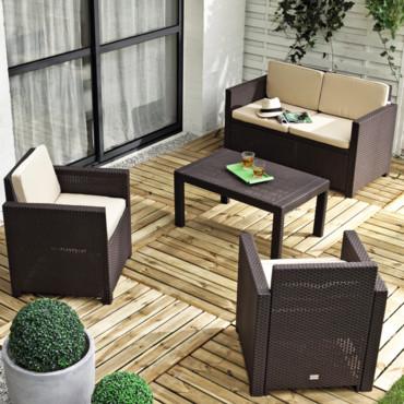 Table salon de jardin la foir\'fouille - Mailleraye.fr jardin
