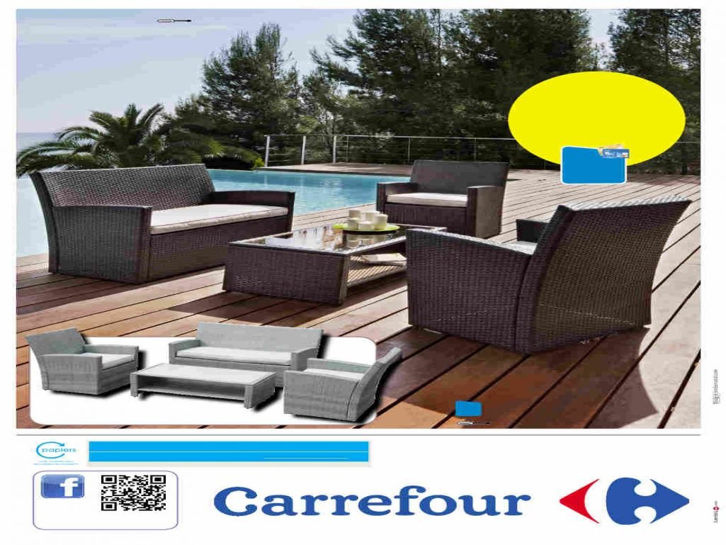 Table de salon de jardin pliable