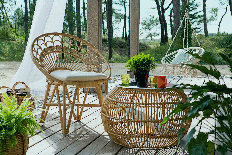 Salon de jardin osier noir - Mailleraye.fr jardin