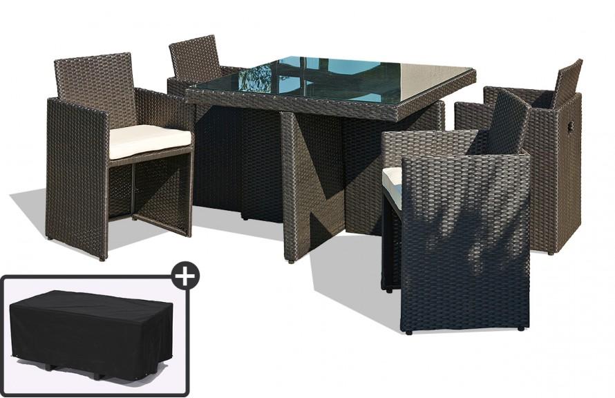 Salon de jardin table + 6 fauteuils vira