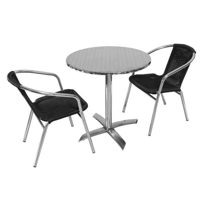 Salon de jardin table ronde et chaises