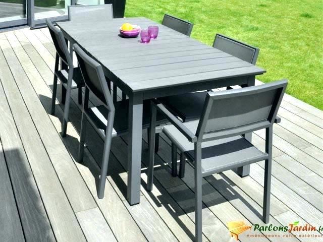 Table de salon de jardin en aluminium