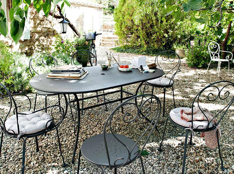 Salon de jardin fer forgé ebay