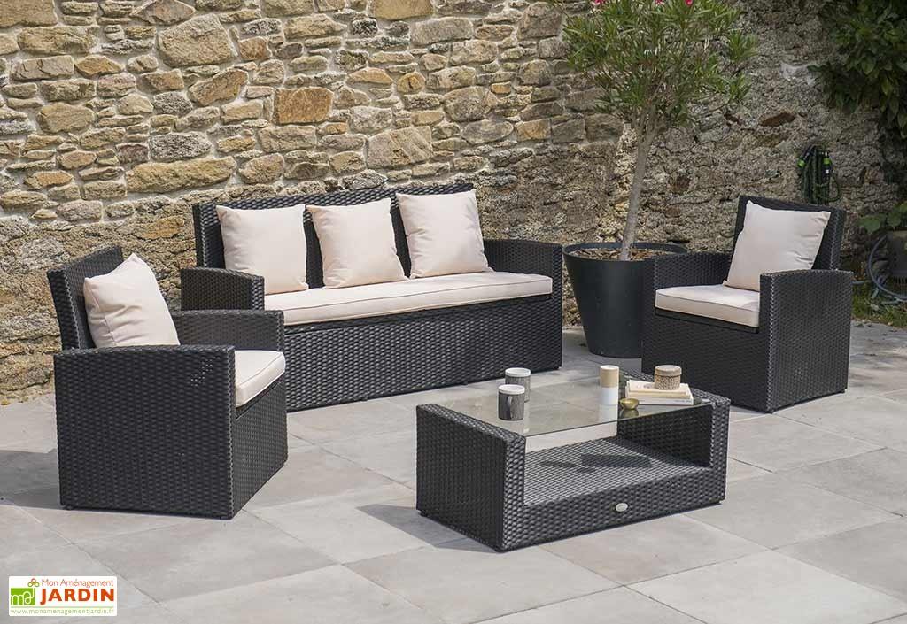 Salon de jardin fauteuil et table basse - Mailleraye.fr jardin