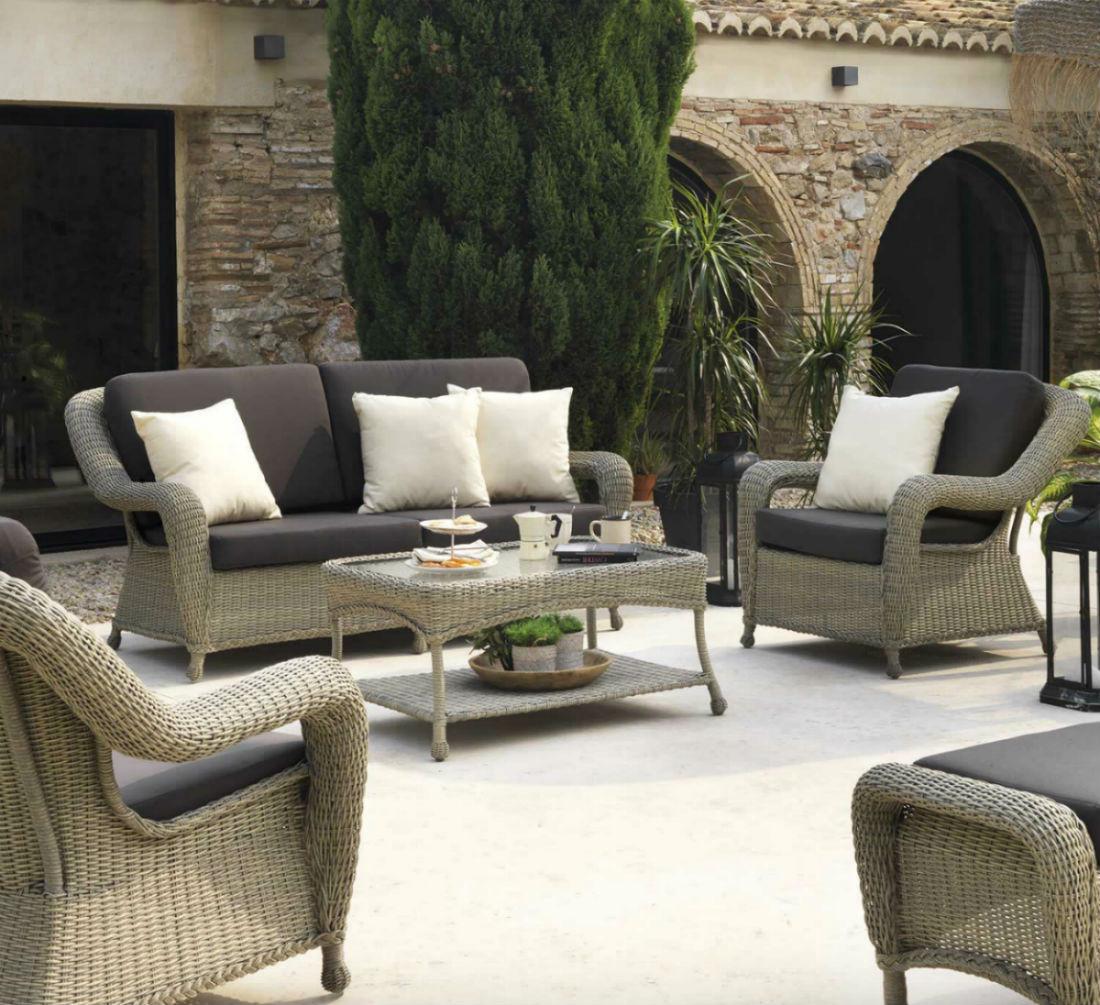 Salon de jardin en rotin pour veranda - Mailleraye.fr jardin