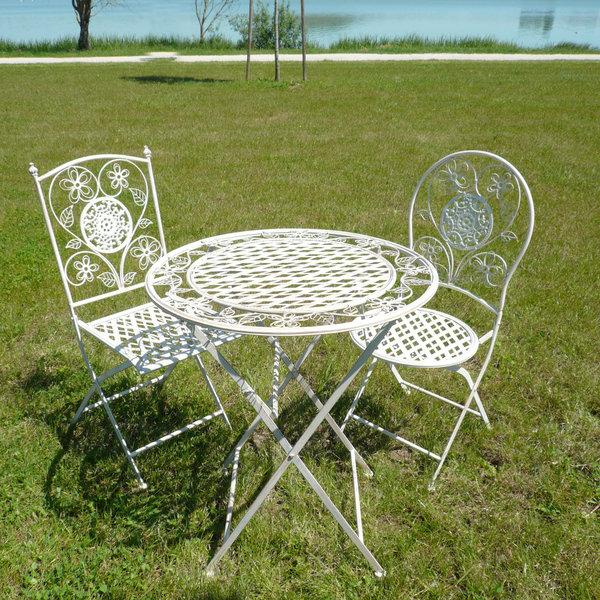 Chaise salon de jardin fer forgé - Mailleraye.fr jardin