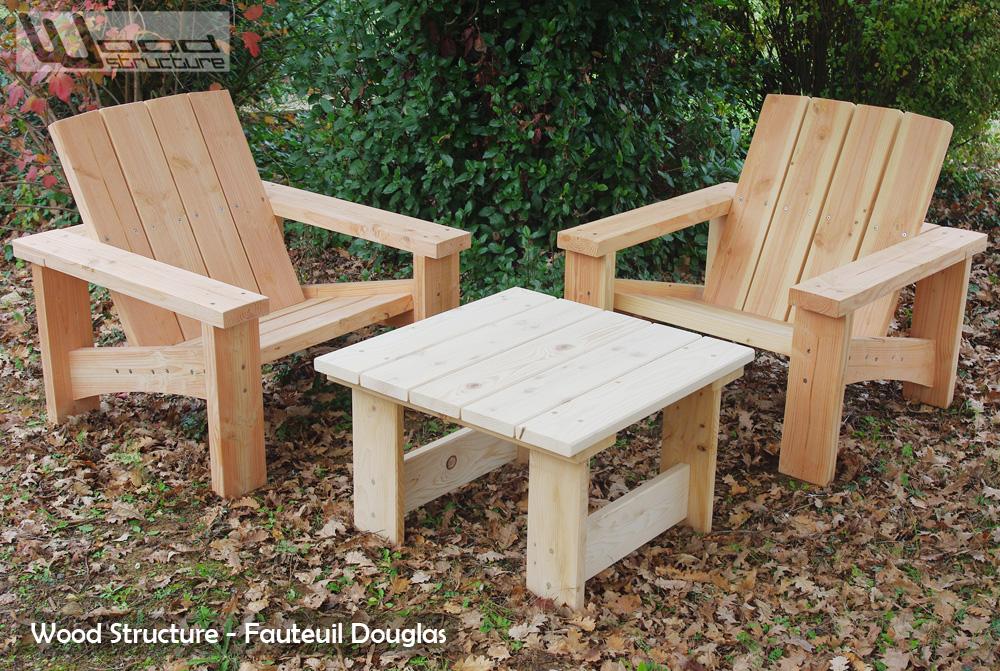 Salon de jardin exterieur bois - Mailleraye.fr jardin