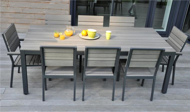 Salon de jardin 10 personnes en aluminium - Mailleraye.fr jardin
