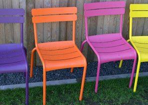 Chaise salon de jardin couleur - Mailleraye.fr jardin