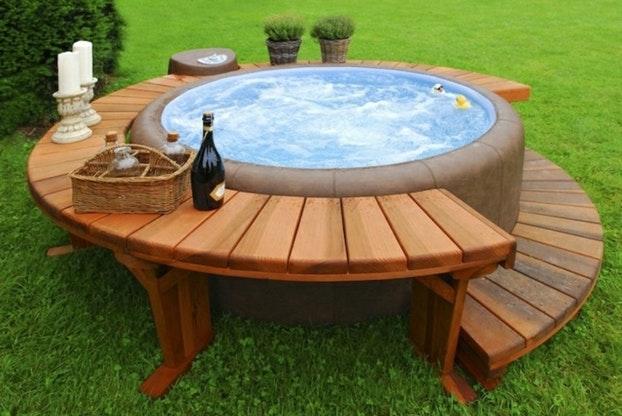 Table de salon de jardin fait maison