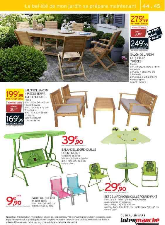 Table salon de jardin intermarché - Mailleraye.fr jardin