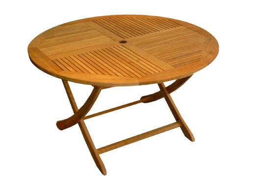 Salon de jardin table ronde pliante - Mailleraye.fr jardin