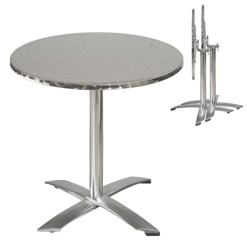 Salon de jardin table ronde en aluminium - Mailleraye.fr jardin