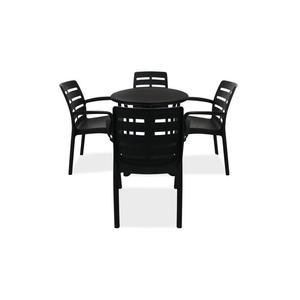 Salon de jardin table ronde pvc