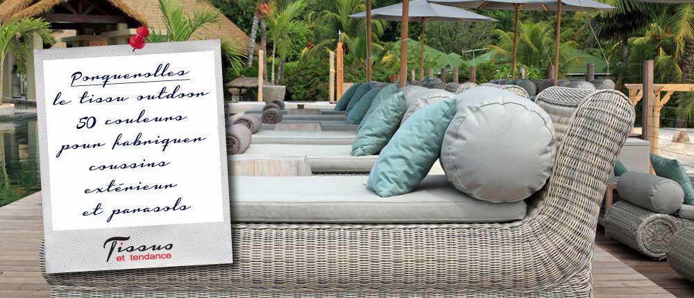 Tissu exterieur pour salon de jardin - Mailleraye.fr jardin