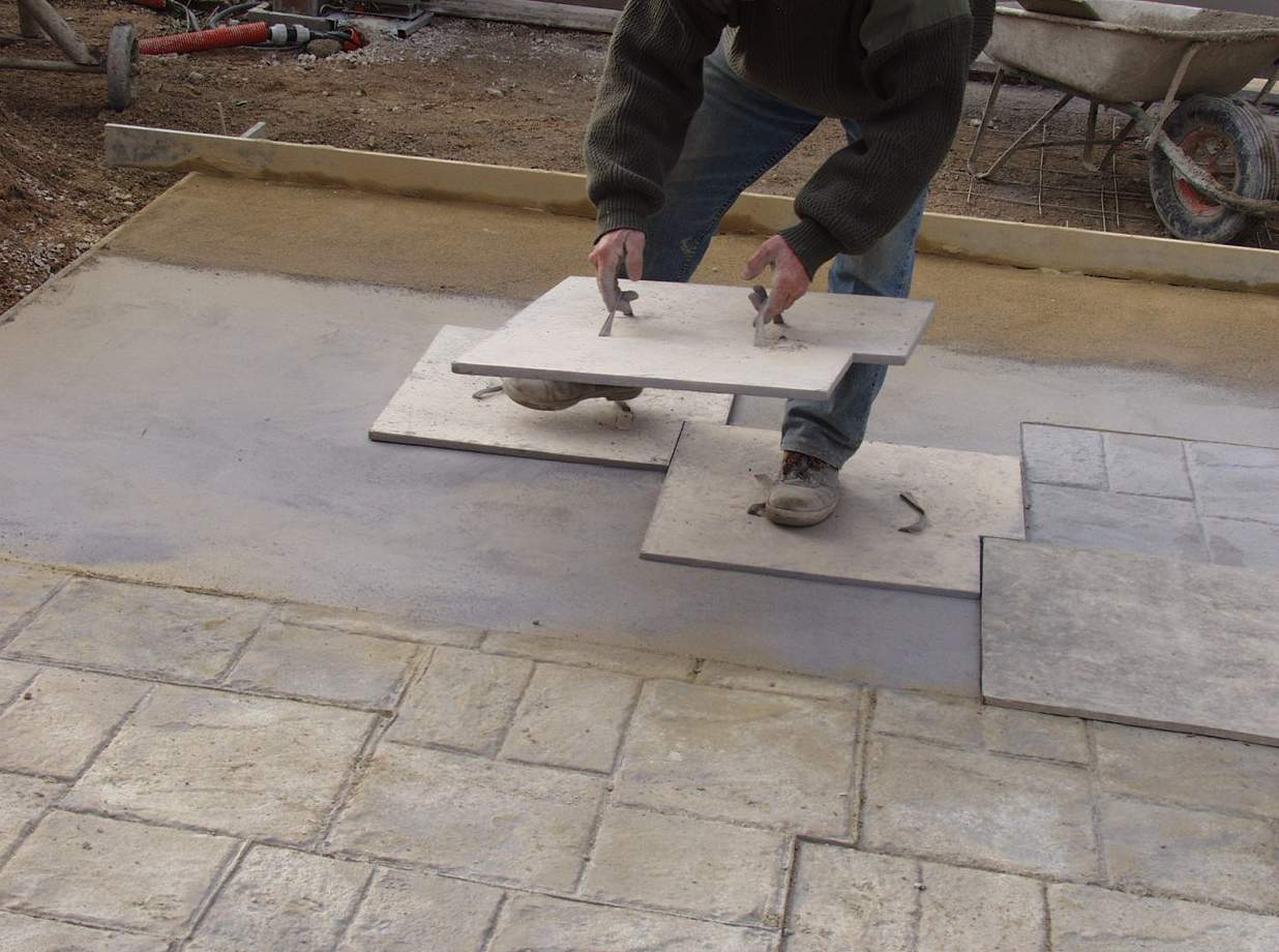 Terrasse beton radier