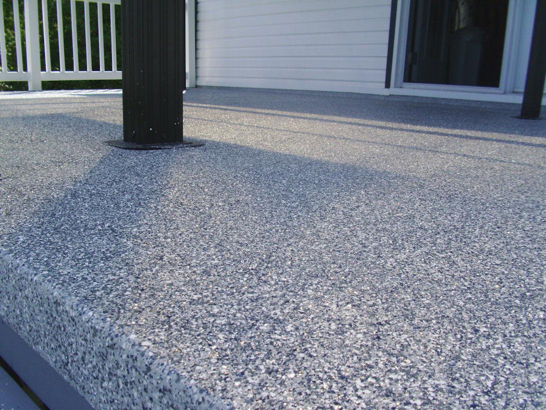 Terrasse beton finition