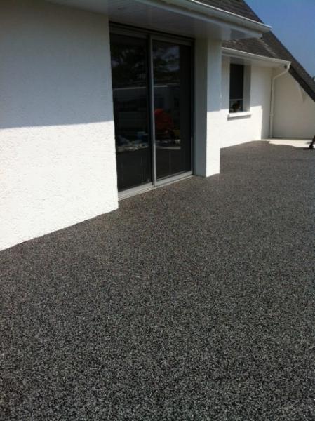 Terrasse beton desactivé gris