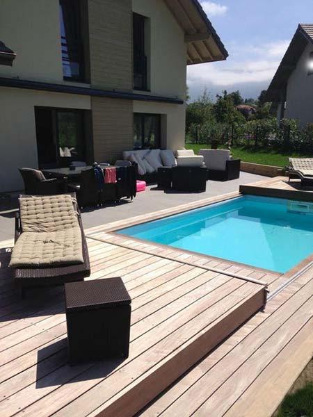 Terrasse avec piscine quebec