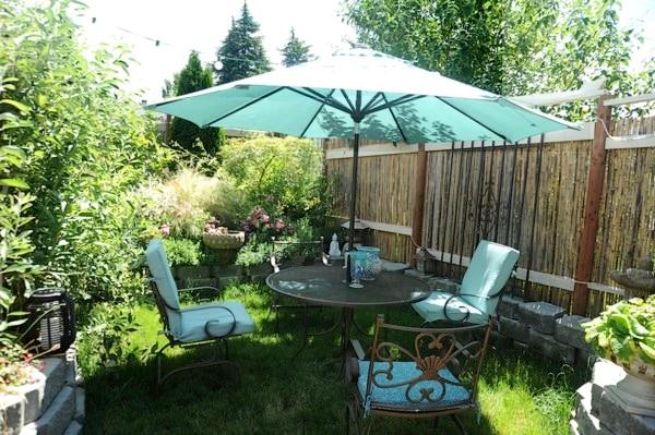 Terrasse jardin vis a vis