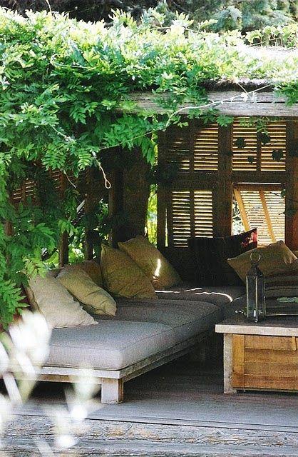 Terrasse couverte en anglais