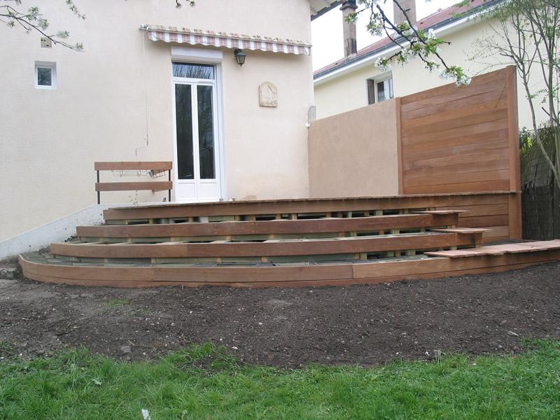 Faire Une Terrasse En Arrondie Mailleraye Fr Jardin