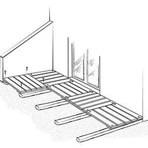 Terrasse caillebotis acier