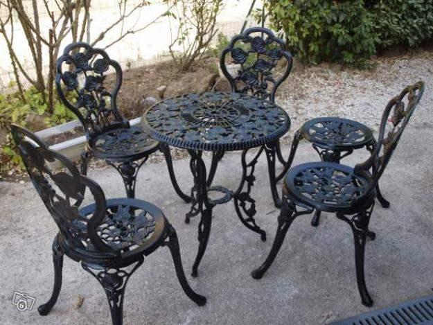Salon de jardin fer romantique - Mailleraye.fr jardin