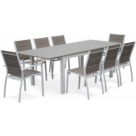Salon de jardin table extensible aluminium