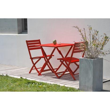 Salon de jardin rouge et jardin - Salon de jardin rouge ...
