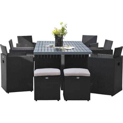 salon de jardin r sine tress e auchan jardin. Black Bedroom Furniture Sets. Home Design Ideas