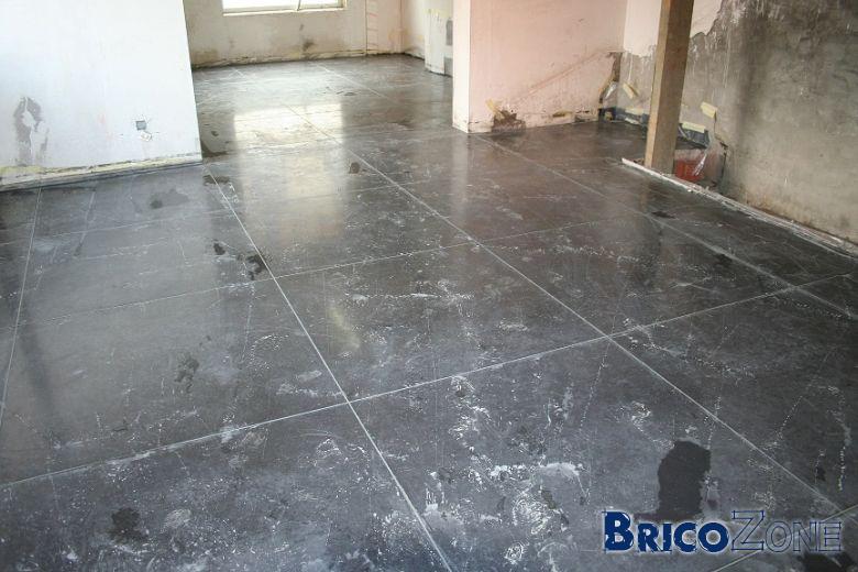 Terrasse beton lissé liege