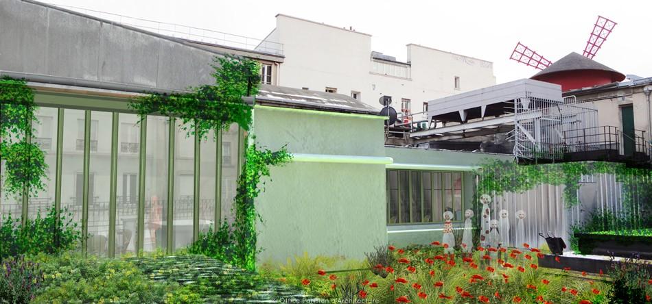Terrasse moulin rouge