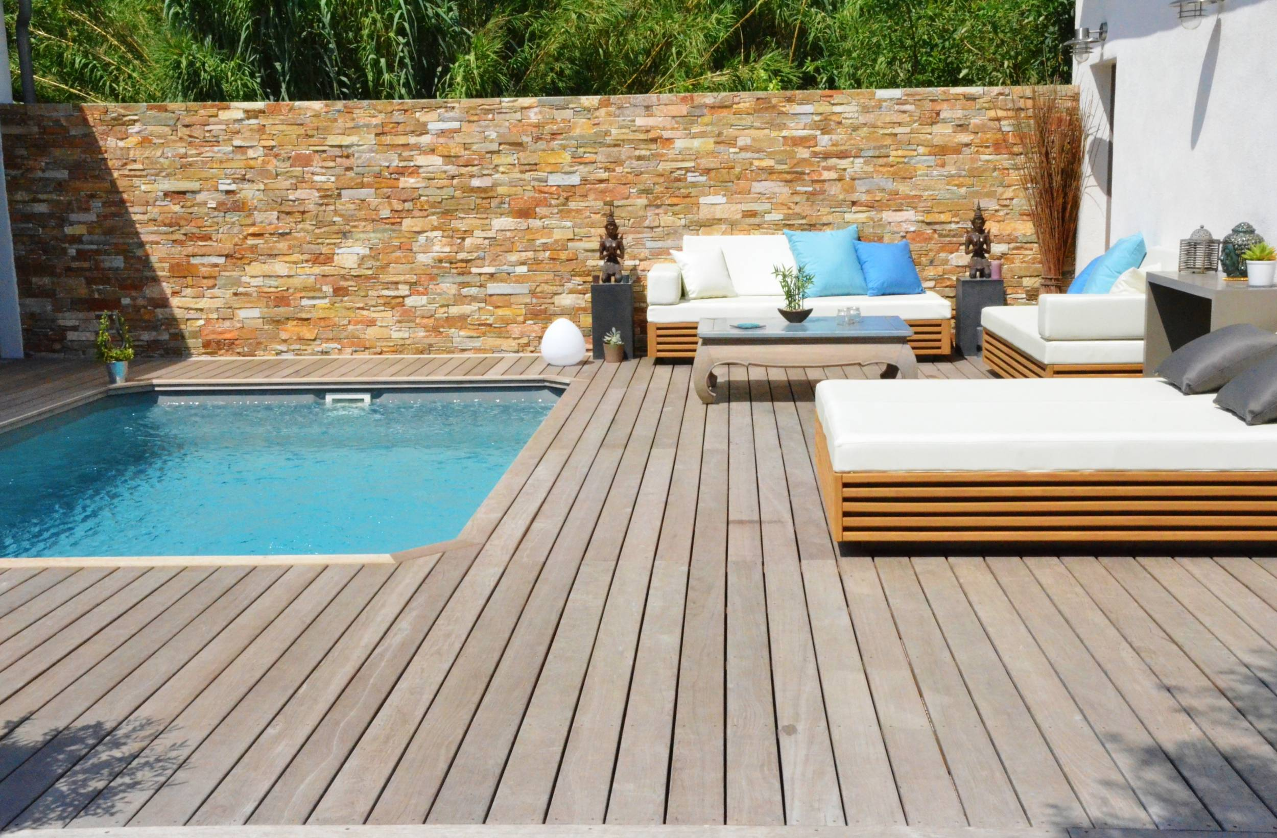 Terrasse bois piscine marseille