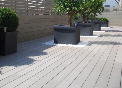 Terrasse composite vannes
