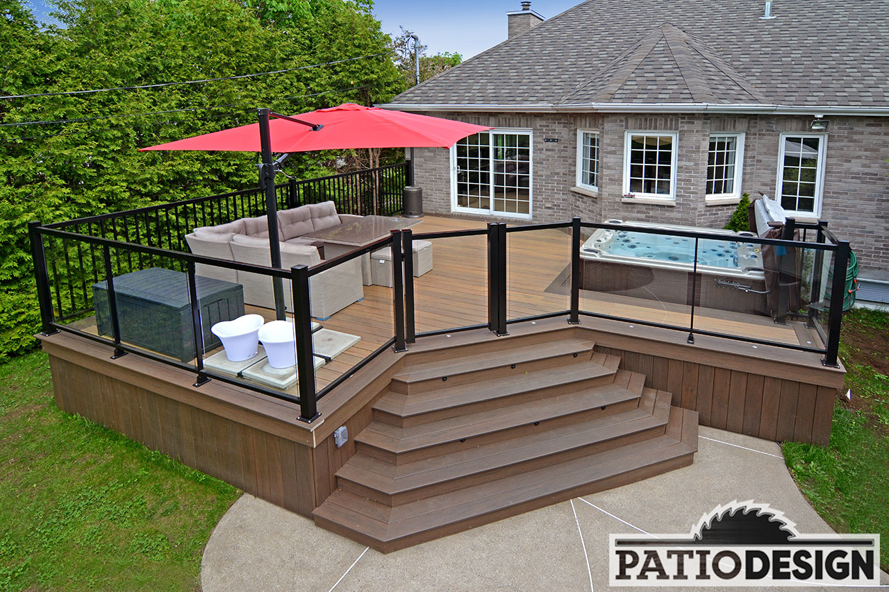 Terrasse Avec Jacuzzi Mailleraye Fr Jardin