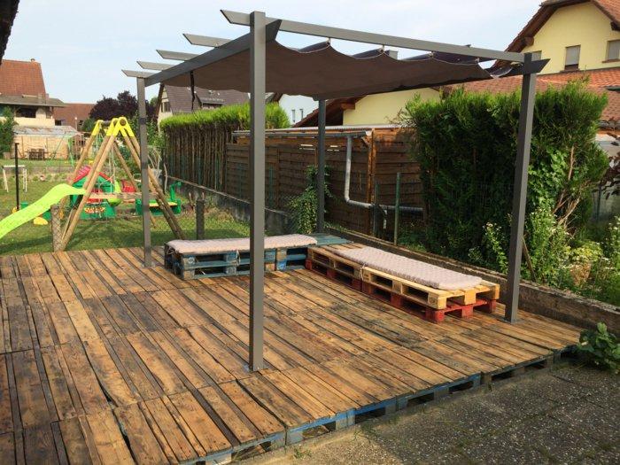 Piscine Avec Terrasse En Palette Mailleraye Fr Jardin