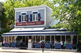 Café terrasse rive sud